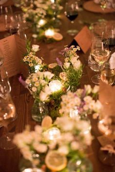 Wedding dinner by candlelight