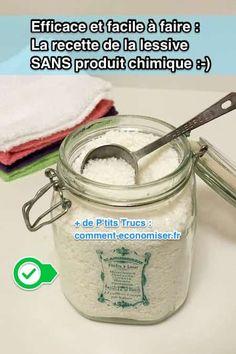 Cette recette maison de lessive en poudre a plein d'avantages. Elle est moins chère, sans produit toxique et elle lave aussi bien, voire mieux, que les lessives en poudre du commerce !  Découvrez l'astuce ici : http://www.comment-economiser.fr/la-recette-de-la-lessive-en-poudre-maison-efficace-naturelle.html?utm_content=buffer1bba1&utm_medium=social&utm_source=pinterest.com&utm_campaign=buffer