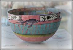Papier mache bowl by designbykiparisia