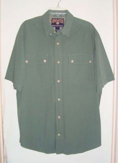 NWOT-DULUTH-TRADING-Co-Bamboo-Rayon-Blend-Outdoor-Short-Slv-Mens-Shirt-Size-L