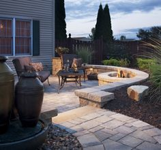 Fire Pit Ideas on Pinterest   Fire Pits, Patio Chairs and The Flame