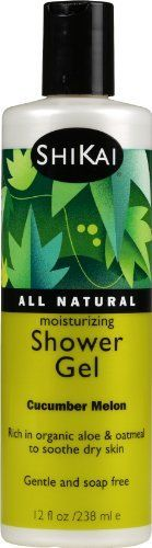 Shikai Cucumber Melon Shower Gel, 12-Ounce Bottle (Pack of 3) by Shikai. $23.56. Pack of three, 12 ounce bottle (total of 36 ounces). Moisturize dry sensitive skin. Contain pure colloidal oatmeal which soothes skin and leaves rough, chafed areas smooth and soft. Shikai Moisturizing Shower Gel Cucumber Melon 12 oz (Pack of 3). These are not your typical shower gels. They were actually created to moisturize dry sensitive skin . while you bathe! Our formulas contain pure...