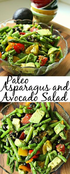 Paleo Asparagus and Avocado Salad - Not Too Shabby Gabby - asparagus-and-avocado-salad-pin The Effective Pictures We Offer You About avocado lunch A quality - Avocado Salad Recipes, Healthy Salad Recipes, Vegetarian Recipes, Cooking Recipes, Avocado Dessert, Vegan Asparagus Recipes, Esparagus Recipes, Avacodo Salad, Vegetarian Italian