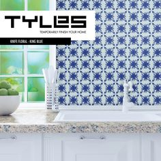 Tyles Knife Floral in King Blue