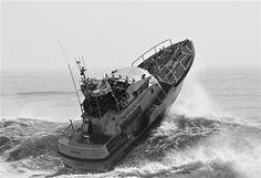 US Coast Guard boat in rough seas