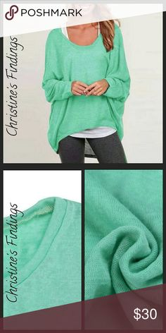 Oval Neck Lightweight Hi-Lo Sweater Very lightweight sweater material. Good for layering like first photo. Uber comfortable. Great color! Christine's Findings  Sweaters
