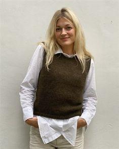 Ravelry: Stockholm Slipover pattern by PetiteKnit Tweed, Knit Vest Pattern, Slip Over, Bind Off, Top Gun, Stockinette, Ravelry, Knitwear, Pullover