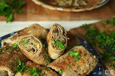 Krokiety gryczane z kapustą i grzybami   Fried pancake rolls with mushrooms and sour cabbage