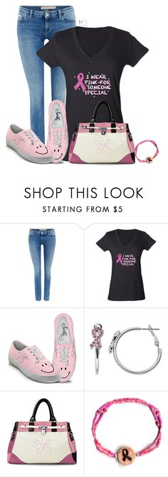 """""""Breast Cancer Awareness with The Leakey Collection"""" by sherbear1974 ❤ liked on Polyvore featuring Calvin Klein and The Bradford Exchange"""