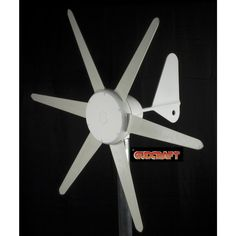 300-Watt 12-Volt Wind 6-Blade Wind Turbine with Charge Controller