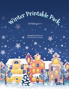 Winter Printable Pack {free winter printables} - Gift of Curiosity