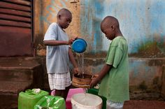 children of gold miners in mali filter water for household use
