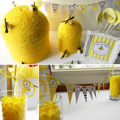 Printable PartyPack  - BUMBLE BEE SHOWER. $40.00, via Etsy.