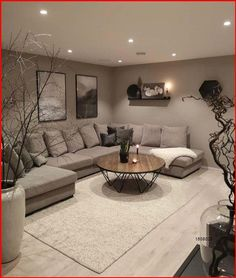 Classy Living Room, Decor Home Living Room, Living Room Grey, Living Room Interior, Living Room Designs, Small Living Rooms, Living Room Ideas With Grey Walls, Living Room Candles, Living Room Decor Curtains