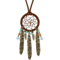Decree Multicolor Bead Dream Catcher Gold-Tone Necklace (310 UAH) ❤ liked on Polyvore featuring jewelry, necklaces, gold tone necklace, multicolor necklace, chain link necklaces, gold tone jewelry and long chain link necklace