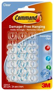 17026clr Command Tm Clear Decorating Clips Perfect For Lanterns And Fairy Lights