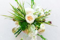 Tropical Floral Arrangment | Modern Charleston Wedding at The Historic Rice Mill by Charleston Wedding Planner ELM Events