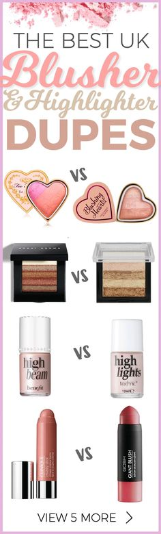 Like those expensive makeup brands but your purse doesn't? We show you the best Blusher and Highlighter Dupes UK...