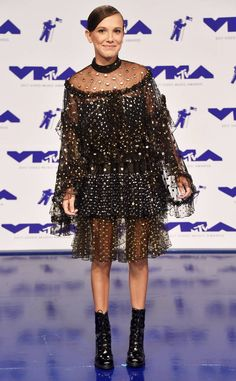 millie bobby brown, Best Dressed at 2017 VMAs, best dressed, vmas, mtv, red carpet, celebrity style, style, fashion, designers, best outfits