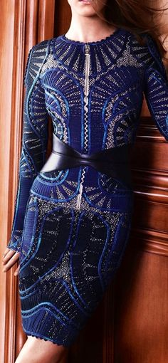 OMG! This navy dress is gorgeous! Love the detailing in the leather and beading
