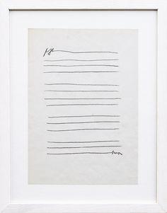 Vlado Martek: Poem, 1979 Pencil on paper, x 21 cm source: aanantzoo. The Monochrome Set, Modern Hepburn, Text Layout, Museum Collection, Beautiful Person, Heart Art, Minimalist Art, Line Drawing, Artist At Work