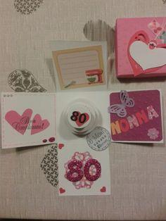 Explosion box#nonna80#buoncompleanno#6mani#