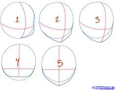 How to Draw Chibi Heads, Step by Step, Chibis, Draw Chibi, Anime ...
