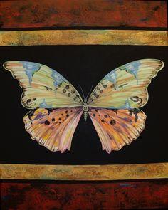 BUTTERFLY TAPESTRY-II-24 x 30-Jean Plout--SOLD