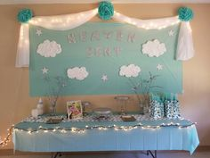 Heaven sent baby shower theme
