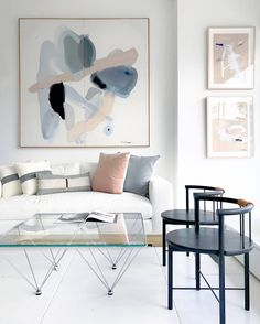 Emily Henderson Trends Chrome Furniture Inspiration // Pretty Muted and Pastel Living Room Room Furniture Design, Furniture Decor, Living Room Furniture, Living Room Decor, Mirrored Furniture, Living Rooms, Bedroom Decor, Home Interior, Living Room Interior