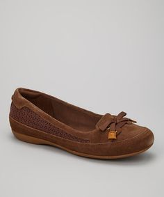 Take a look at this Dark Brown Falmouth Ball Flat by Timberland on #zulily today!