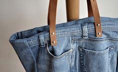 transformation vieux jeans en sac à main