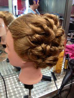 Pleasing An Easy Updo On My Manikin Cosmetology Pinterest Updo And Short Hairstyles Gunalazisus