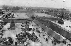Heavy winds flattened the Eastern Market sheds. Undated photo, could be 1913. (Detroit News Archives)