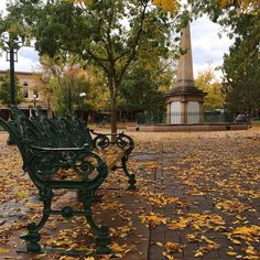 New Post by @SimplySantaFeNM on #Instagram: How about that storm today?! It might have come a little later than usual but fall is HERE along with thunderstorms fallen leaves and those oh so dramatic skies.  Thanks to @santafered for capturing this scene on the plaza!  #santafenm #fallinsantafe #santafeskies #fallishere #santafeplaza