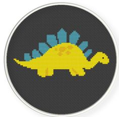 Buy 4 get 1 free ,Buy 6 get 2 free,Cross stitch pattern, Cross-StitchPDF,cute dinosaur,zxxc0109. $4.00, via Etsy.