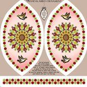 Mandalabird hanging ornament by fantazya, Spoonflower digitally printed fabric