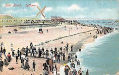 Lytham, East Beach, Windmill, Animated, Plage 1912   eBay