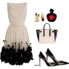 A fashion look from May 2015 featuring mini dress, black pumps and zip tote bag. Browse and shop related looks. Kpop Fashion Outfits, Chic Outfits, Fashion Dresses, Womens Fashion, Dressy Outfits, Stunning Dresses, Beautiful Outfits, Fedora Fashion, Evening Outfits