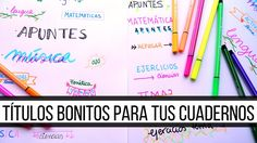 CÓMO HACER TÍTULOS BONITOS PARA TUS CUADERNOS | Decora tus cuadernos