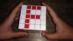 How to make letter F in 5 by 5 Rubik's cube