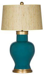 Cove Table Lamp, Caribbean blue