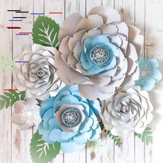 Large Paper Flower Wall Decor – Blue Wedding Flower Wall – Bridal Shower Decor – Large Paper Peony – Paper Roses – Blue Flower Arrangement Large Paper Flower Set of 4 or 6 – Wedding Flower Large Paper Flowers, Paper Flower Wall, Flower Wall Decor, Flower Backdrop, Small Flowers, Beautiful Flowers, Flower Wall Wedding, Blue Wedding Flowers, Blue Flowers