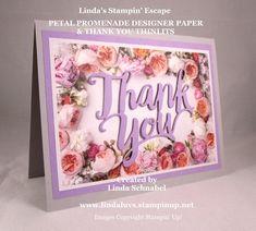 Simply Sunday: Petal Promenade Designer Paper & Thank You Thinlits Dies www.lindaluvs.stampinup.net