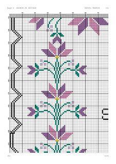Kanaviçe-dantel işleri: Mor çiçekli seccade örneği- kanaviçe seccade Embroidery Stitches Tutorial, Walnut Shell, Cross Stitch Patterns, Kids Rugs, Quilts, Blanket, Bathroom Towels, Arabesque, Cross Stitch Embroidery