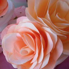 Make a variety of gorgeous paper roses with Design Improvised, and @savedbyloves