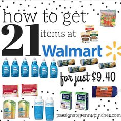 How to Get 21 Items at Walmart For $9.40 (Just $.43 Each)