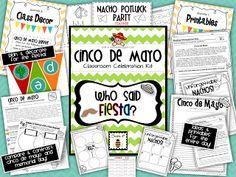 Cinco de Mayo - Who Said Fiesta? [classroom celebration & printables pack!!]