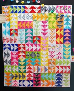 remixed geese quilt free tutorial / ann kelle