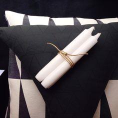Geometric cushions #bloomingville #marimekko Geometric Cushions, Marimekko, Napkin Rings, Bloom, Home Decor, Interior Design, Home Interior Design, Napkin Holders, Home Decoration